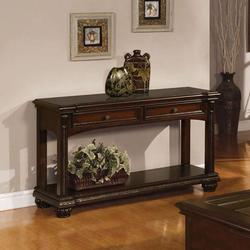 Anondale Traditional Sofa Table W/Glass