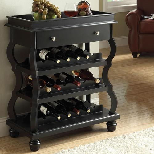 Cecilia Bombay Wine Rack With 1 Drawer