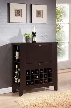 Nelson Contemporary Wine Bar W/ Bottle Storage