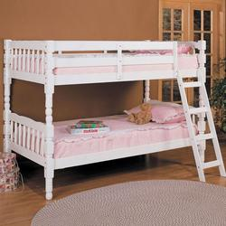 Homestead White Twin Size Bunkbed