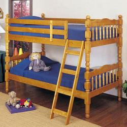 02301 Youth Bunk Bed with Classic Spindle Accents