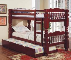 Benji Traditional Twin Bunkbed with Trundle Unit