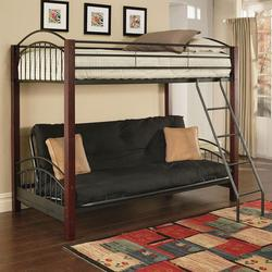 Jenell Twin-Over-Futon Bunkbed W/Wood Posts