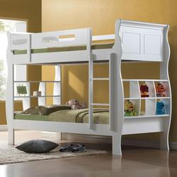 Nebo Twin Over Twin Bunkbed W/ Bookshelf Storage