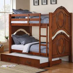 Classique Traditional Twin Bunkbed with Trundle