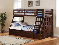 Jason Twin Over Full Bunkbed W/Trundle & Storage Ladder