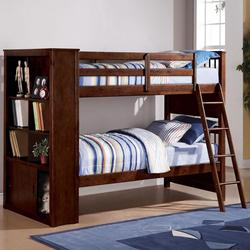 Yaffa Bunkbed with 3 Shelf Bookcase and Ladder
