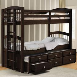 Micah Twin Bunk Bed W/ Trundle and Drawer Storage