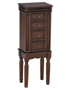 Depot Jewelry Armoire with Turned Legs