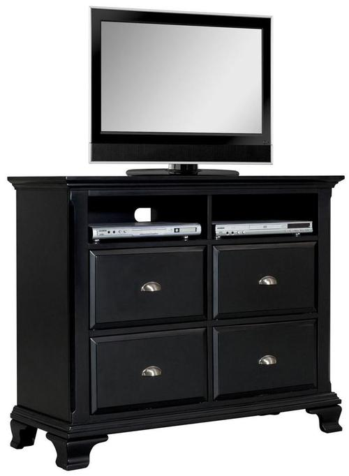 Acme Furniture Canterbury Black Television Chest W 4 Drawers