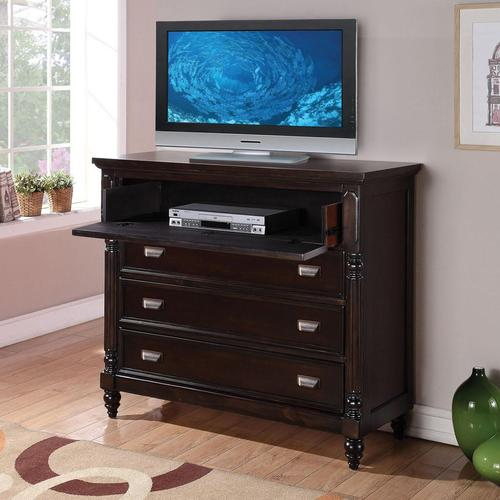 acme furniture charisma tv console with 4 drawers