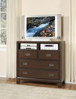 Bellwood Four-Drawer TV Console with Shelf