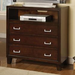 Preston Contemporary Three Drawer Media Chest