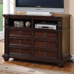 Daruka TV Chest with 6 Drawers and Component Storage Area