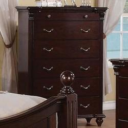 Cleveland 6 Drawer Chest with Turned Feet