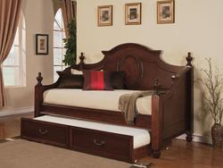 Classique Traditional Trundle Daybed with Urn Finials