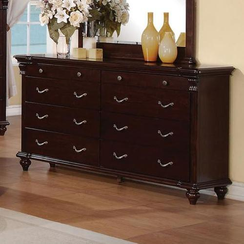 Contemporary Bedroom Set London Black By Acme Furniture: Acme Furniture Cleveland 8 Drawer Dresser With Turned Feet