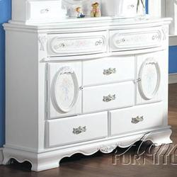 01660 Door Dresser w/ Painted Floral
