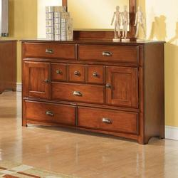 Brandon Traditional Dresser with Ten Storage Compartments