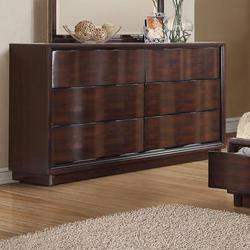 Travell Contemporary Six-Drawer Dresser