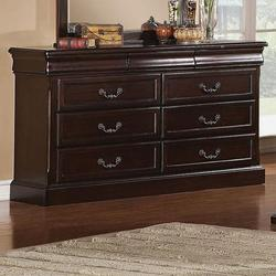 Roman Empire 6 Drawer Dresser with Bail Pull Hardware