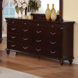 Cleveland 8 Drawer Dresser with Turned Feet