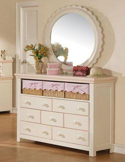 Crowley Dresser and Round Mirror