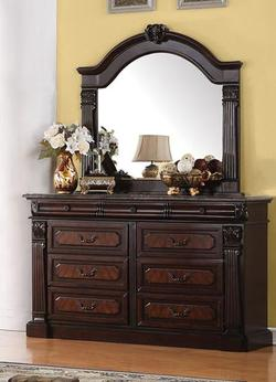 Roman Empire Drawer Dresser and Mirror Set