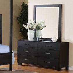 London Contemporary Dresser and Mirror Combo