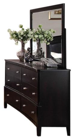 Abram Concave Dresser and Mirror Set