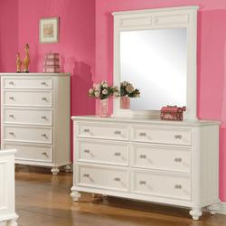 Athena Girls Bedroom Dresser and Mirror Set