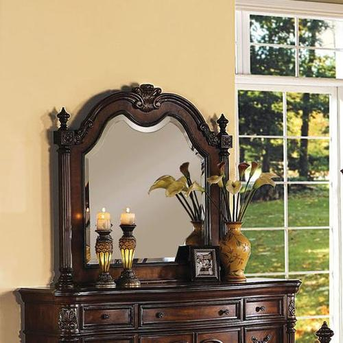 Remington Traditional Dresser Top Mirror W Crown And Turned Finials