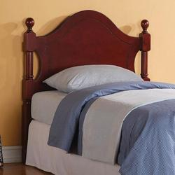 Teca Traditional Twin Headboard with Columns and Ball Finials