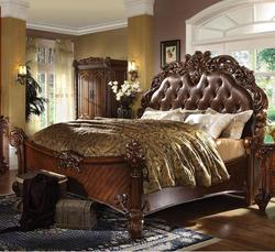 Vendome California King Panel Bed with Upholstered Headboard