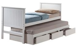 Bungalow Casual Full Bed with Trundle and Storage Drawers