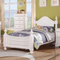 Classique Traditional Full Bed with Urn Finials