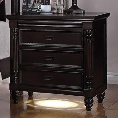 Acme Furniture Charisma 3 Drawer Nightstand With Led Light