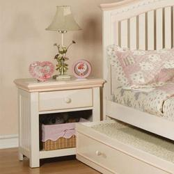 Crowley Traditional Youth Nightstand with Storage Basket