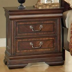 Hennessy Traditional Nightstand with Two Drawers