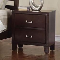Preston Contemporary Two Drawer Nightstand