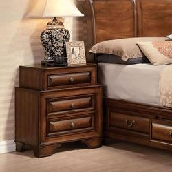 Konane Traditional Three-Drawer Nightstand