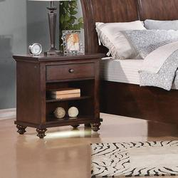 Aceline Nightstand with 1 Drawer (LED & Charging Dock)