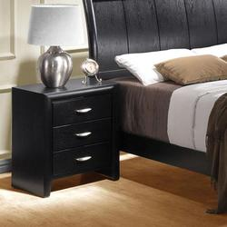 Hailee Transitional 3-Drawer Nightstand