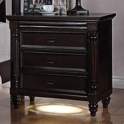 Charisma 3 Drawer Nightstand with LED Light