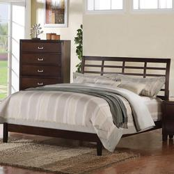 Preston California King Lattice Bed with Low Profile Footboard