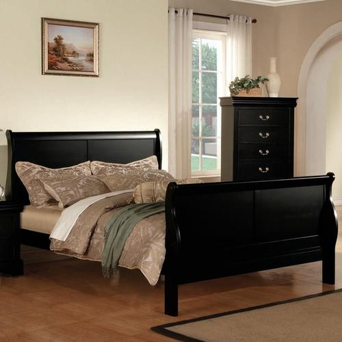 Acme Furniture Louis Philippe Iii Queen Transitional Sleigh Bed