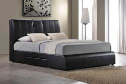 Kofi Upholstered Queen Bed W/Storage and Pull-Down Tray