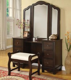Annapolis Vanity Set with Upholstered Stool