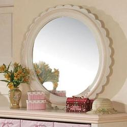 Crowley Tradtional Youth Round Scalloped Mirror