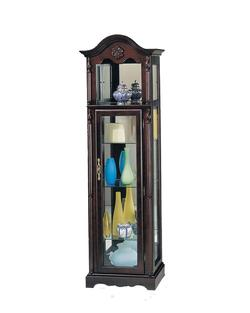 Lindsey Traditional Cherry Curio W/Glass Door